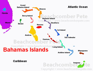 Bahamas, Map of the Bahamas, Bahamas Map, Bahama Islands, Islands of ...