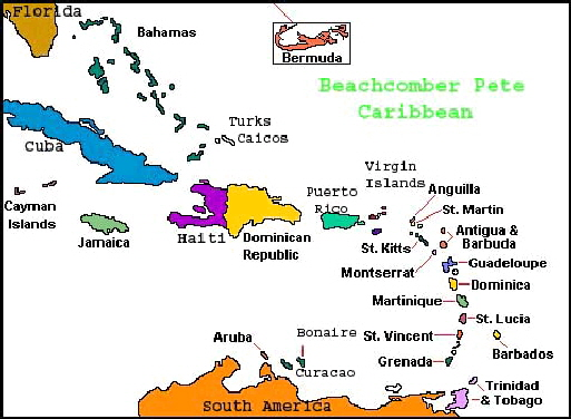 Caribbean, Map of the Caribbean, Caribbean Map, Caribbean Countries ...