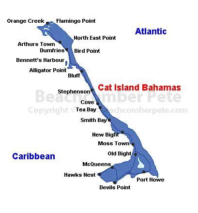 Cat Island Bahamas Map of Cat Island Bahamas Cat Island Bahamas