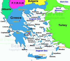Greece beachcomber pete map of greece md gumiabroncs Choice Image