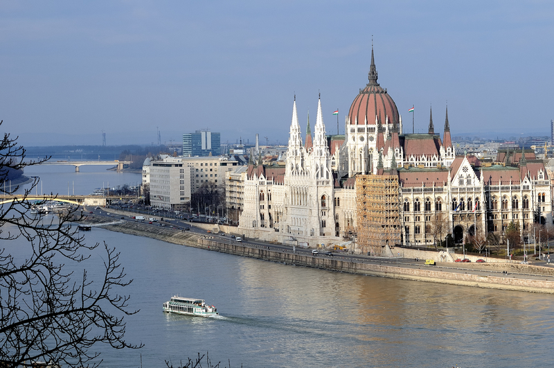 Parliment Building Danube River Budapest Hungary