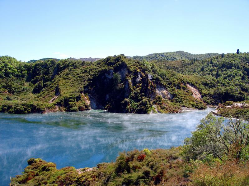 Geothermal Vents And Stream At Waimangu, Rotorua, New Zealand