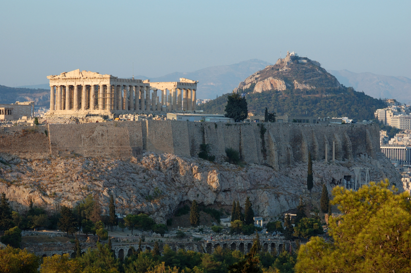 Acropolis and the city of Athens, Greece
