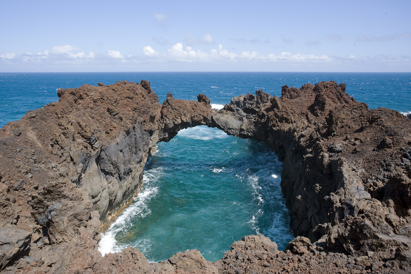 Natural Lava Stone Arch, El Hierro, Canary Islands
