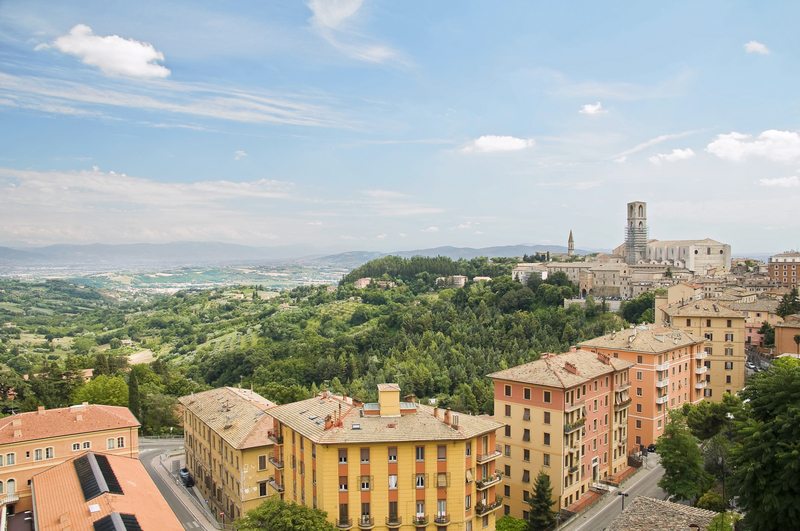 Panoramic view of Perugia. Umbria, Italy