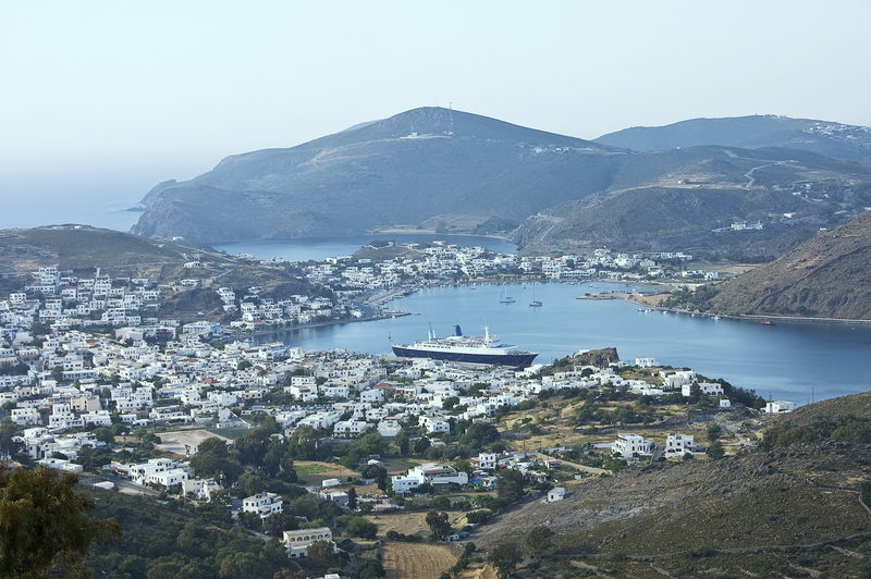 Harbor of Sakala, Island of Patmos, Greece