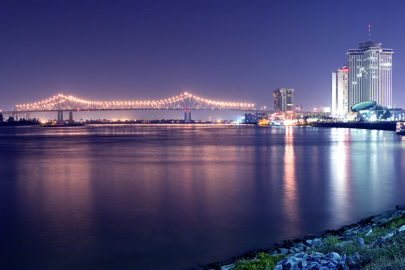 Mississippi River and city of New Orleans, United States
