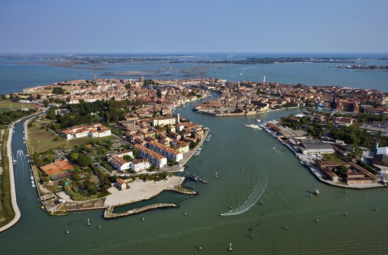 Aerial View of Murano Island, Venice Italy