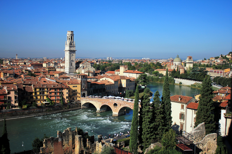 Skyline of Verona,Veneto, Italy