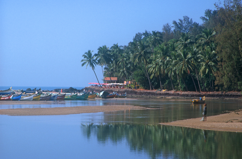 Baga Beach located in India, district Goa