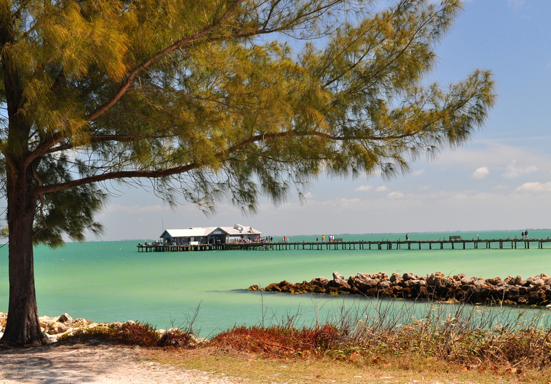 City Pier and Gulf of Mexico, Anna Marie Island, Florida