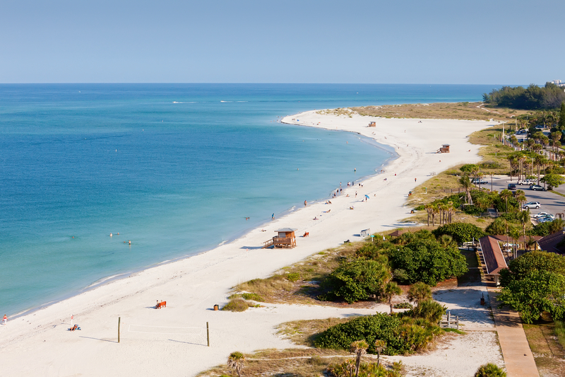 Lido Beach is Siesta Key, Florida