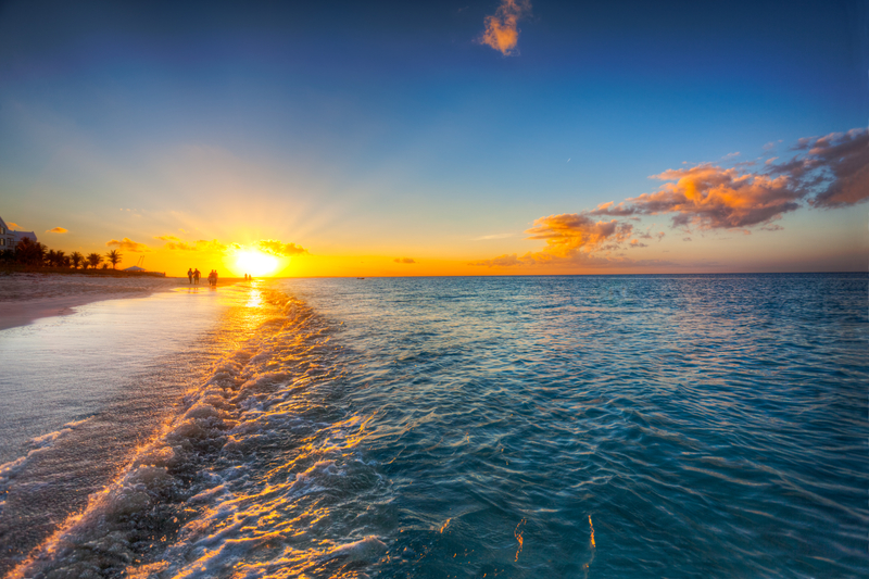 Sunset on Grace Bay Providenciales, Turks and Caicos