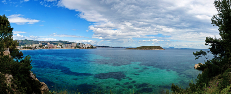 Panorama of Magaluf in spring, Spain