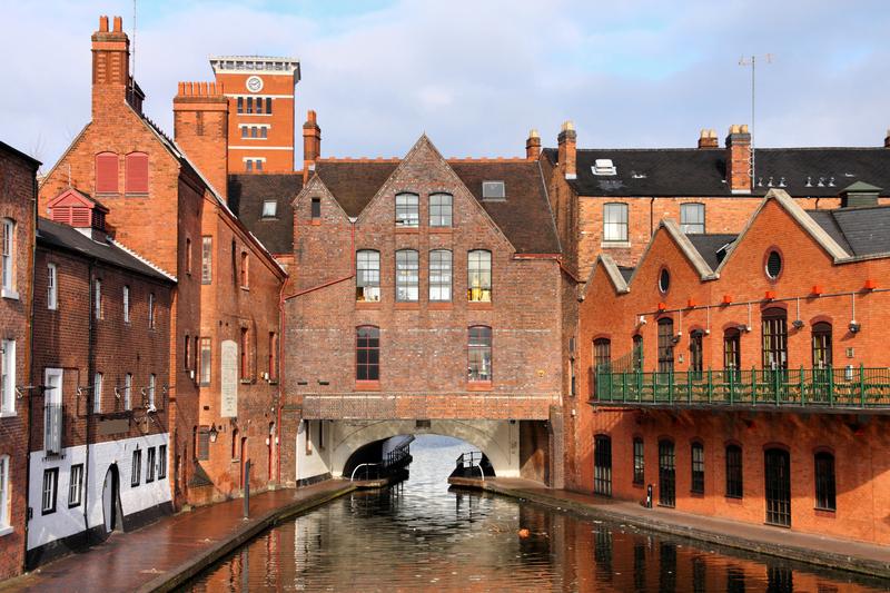 Birmingham water canal, Birmingham, England