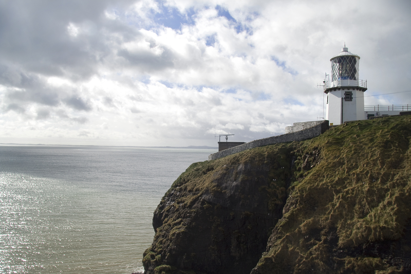 Blackhead lighthouse on the coast of Northern Ireland near Belfast