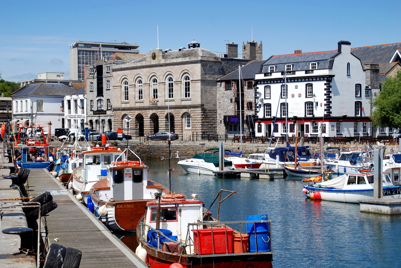 Custom House Quay, Plymouth, England