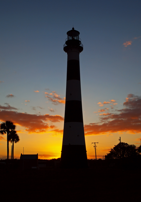 Cape Canaveral Lighthouse at sunset, Cape Canaveral, Florida