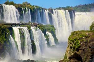 Iguazu Falls as seen from Argentina
