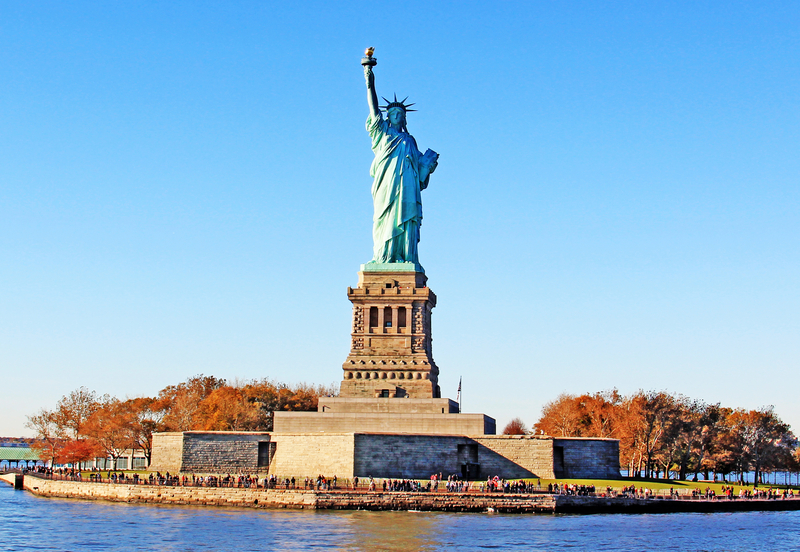 The Statue of Liberty island in New York City, United States