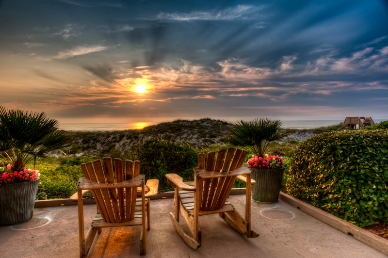 Easy Chairs at Sunrise on Amelia Island, Florida