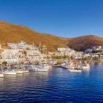 Merichas port, Kythnos island, Cyclades, Greece