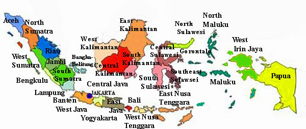 Indonesia Southeastern Asia Map of Indonesia Beachcomber Pete