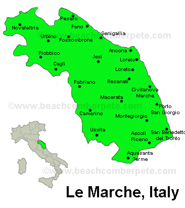 Le Marche Italy Travel Information Beachcomber Pete Travel