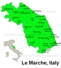 Image result for le marche map with italy map