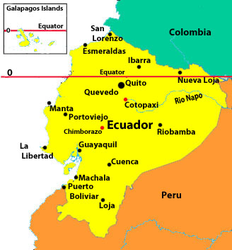 Ecuador Travel Information Beachcomber Pete Travel Adventures - Map of ecuador world
