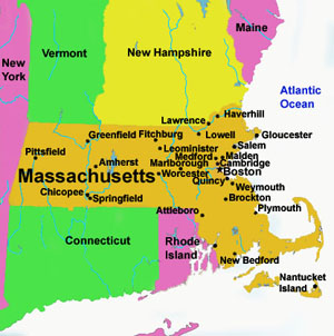 United States Map Of United States Travel United States - Where is massachusetts