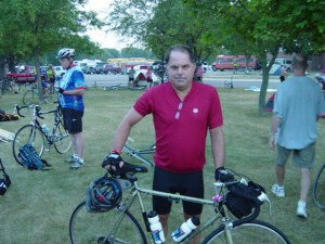 Pete at start of Ragbrai 2007