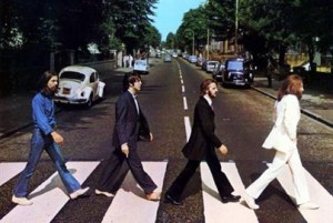The Beatles Abbey Road album cover EMI Records