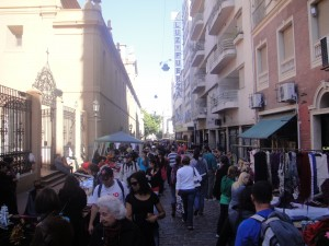 Sundays on Defensa Street, San Telmo, Buenos Argentina