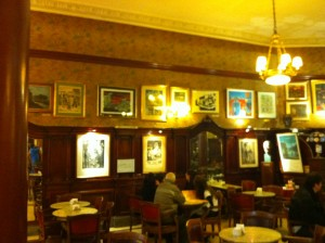 Cafe Tortoni old photos Buenos Aires