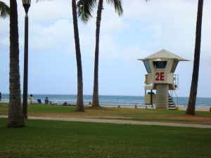 Lifeguard Tower Waikiki Beaches, Oahu Hawaii
