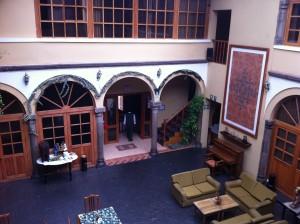 Lobby Courtyard Los Andes de America, Cusco Peru
