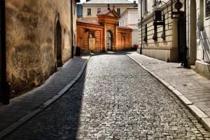 Old Street in Krakow Poland