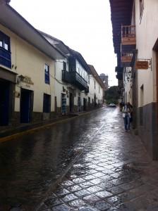 Street in front of Hotel Los Andes de America