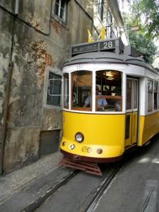 Historic Tram 28 Lisbon Portugal