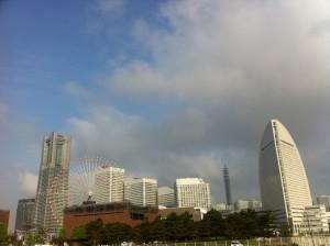Skyline from Yamashita Park,Yokohama Japan