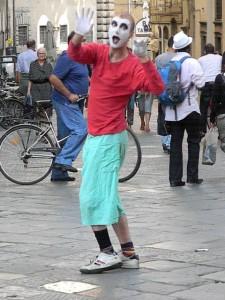 Street Mime, Piazza della Signoria, Florence Italy
