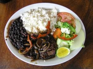 Casado, Tipico food Costa Rica