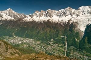 Chamonix Aerial View, France