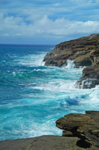 Cliffs at Hanauma Bay, Oahu Hawaii