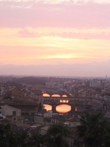 View from Piazzale Michelangelo, Florence Italy
