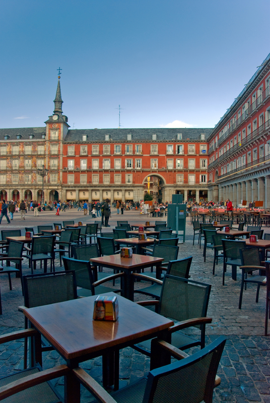 Outdoor Cafe, Plaza Mayor, Madrid, Spain
