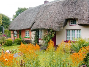 Typical Thatched Roof Cottage Ireland