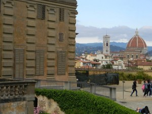 View of Duomo from Boboli Gardens, Florence, Italy