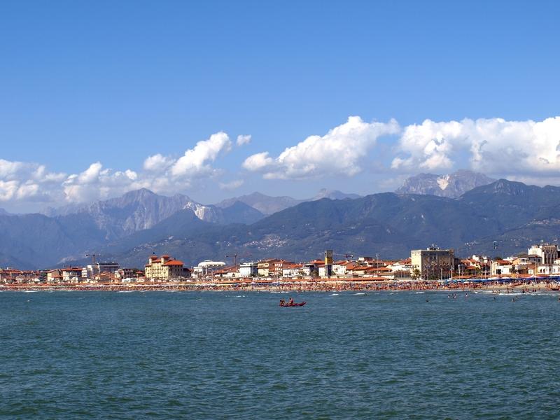 Coastline of Viareggio, Italy